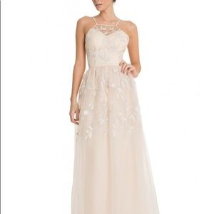 Chi Chi London Very Light Pink Tulle Gown